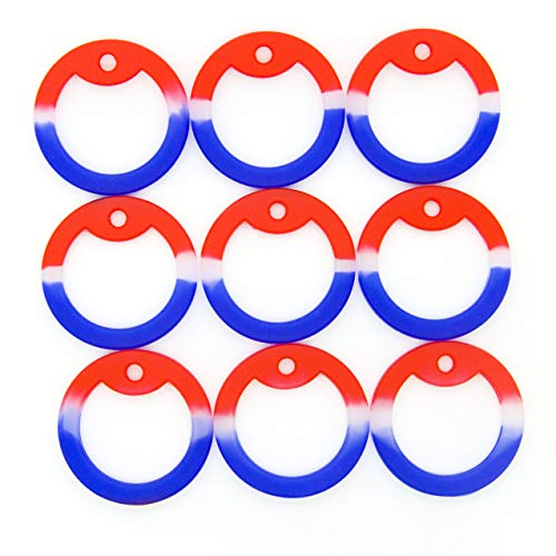 Pack of 50 OnDepot Red White & Blue USA Camouflage Military Army Dog Tag Silencer Silicone/Rubber Silencer