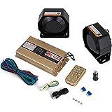 Mophorn 400W 8 Sound Loud Car Warning Police Fire Emergency Alarm Fire Siren 2 Horn PA Speaker MIC System Vehicle Siren