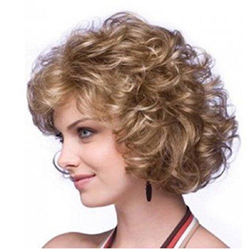 Perruques, Malloom Cheveux Bouclés Court Paragraphe élégant Dames Capuchon Atmosphérique Mode Perruques