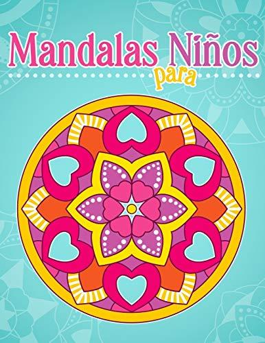 Mandalas para niños: Libro para colorear con patrones simples de mandala.