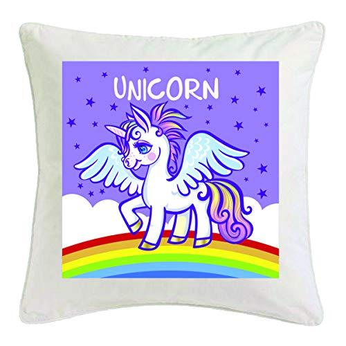 Reifen-Markt Funda de cojín de 40 x 40 cm, diseño de unicornio, criaturas míticas, caballo, cabra, emoji, Licorne, Unicornio, Mythos, cuerno medieval, de microfibra, 302884