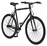 Schwinn Stites Fixie Adult Commuter Road Bike, Single-Speed, 58cm/Large Steel Stand-Over Frame, 700c Wheels, Flip-Flop Hub, Matte Black