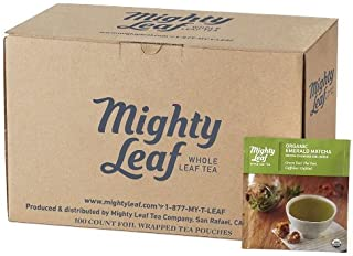 Mighty Leaf Organic Emerald Matcha Green Tea, 100 count Bulk Tea Pouches