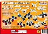 rcee Metallbaukasten Bausatz 15-in-1 Modelle Baufahrzeuge 500 Teile Baustelle Flugzeug Fahrzeuge Auto LKW 4-farbige Aufbauanleitung Werkzeug ab 8 Jahren Starter...
