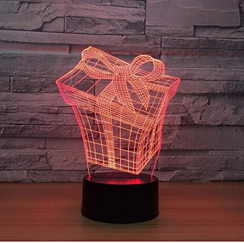 3D Veilleuses Coffret Cadeau 3D Lampe 7 Couleur Led Veilleuse Pour Enfants Toucher Led Usb Table Lampara Lampe Bébé Veilleuse Veilleuse Drop Shipping Lampe