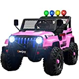 Uenjoy Electric Kids Ride On Cars 12V Battery Motorized Vehicles W/ Wheels Suspension, Remote...