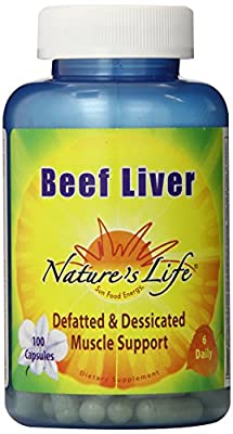 Beef Liver, 1,500 mg, 100 Tablets