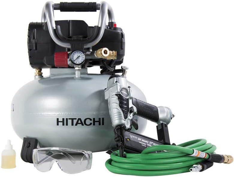 Hitachi KNT50AB Air Compressor Includes 25′ Air Hose