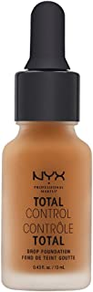 NYX PROFESSIONAL MAKEUP Total Control Drop Foundation, Cinnamon, 0.43 Fluid Ounce