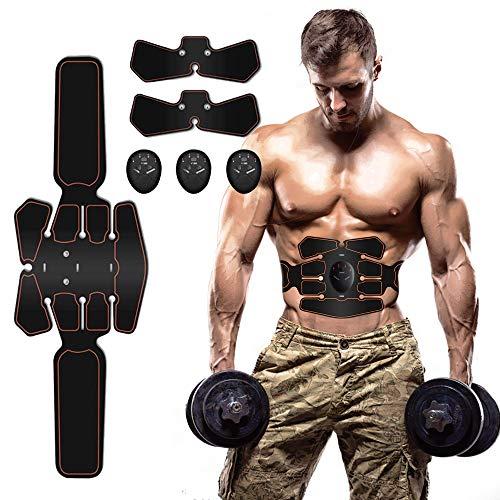 Moonssy EMS Muskelstimulator Bauchtrainer ABS Trainingsgerät ABS Trainer Professionelle Elektrostimulation Elektrisch Bauchmuskeltrainer Fitnessgürtel für Damen Herren