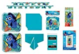 Unique Industries Inc Finding Dory Nemo Birthday Party Supplies Decoration Bundle includes Plates, Napkins, Table Cover, Happy Birthday Banner