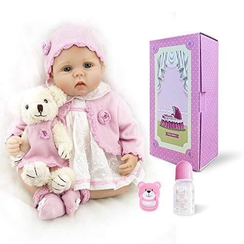 """18/"""" Toddler Reborn Baby Dolls Girl Likelife Soft Viny Lovely Baby Doll Kid Toys"""