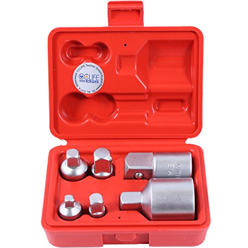 CCLIFE Adaptadores para llaves de vaso Adaptador de llave de vaso de impacto,1/4 3/8 1/2 3/4 6pzas
