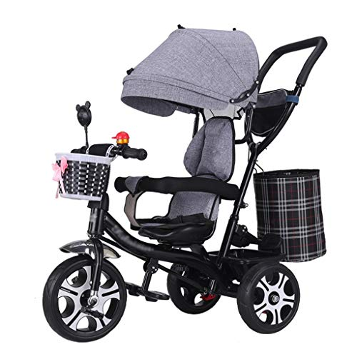 Fantastic Prices! 4-in-1 Baby Stroller Trike Bike High Carbon Steel Frame Children's Tricycle with R...