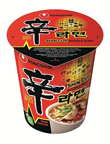 Nong Shim Shin Cup Noodle Soup - 12 Cups
