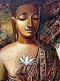 Pintura por números Gran Buda Arte Religioso Pintura por Números DIY Decoración del Hogar 40X50Cm Sin Marco