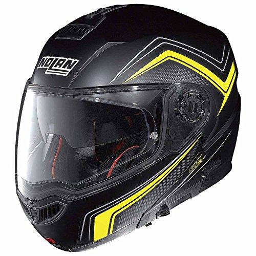 Nolan N104 ABSOLUTE COMO Klapphelm Motorrad Polycarbonat n-com - matt schwarz gelb Größe XXS