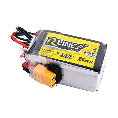 Tattu R-Line 850mAh 4S Lipo Batteria 14,8 V 95C con spina XT60 per FPV multirotore dalle dimensioni 100 a 180