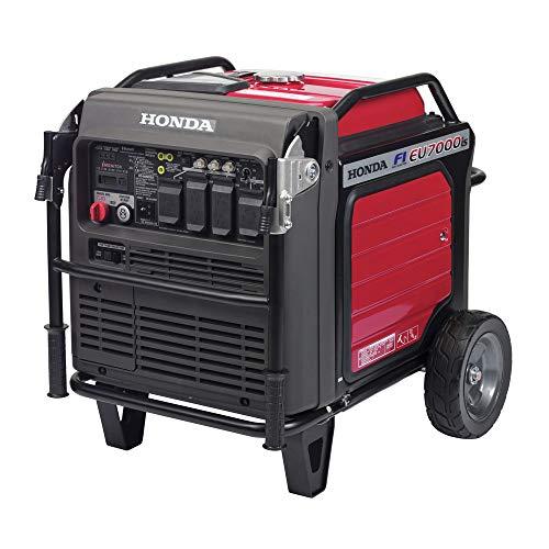 Honda 664280 EU7000IAG 120V/240V 7000-Watt 389cc 5.1 Gallon Inverter Generator with Co-Minder