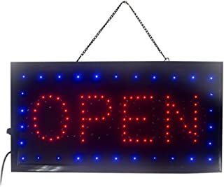 Enshey 2 in1 Open & Closed Store Sign, Business Sign, Windows Sign Neon LED Business Store Shop Open Sign Chain Advertisement Board Electric Display Sign for Business, Walls, Window, Shop, Bar, Hotel