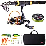 Best Compact Fishing Rod And Reels - Sougayilang Telescopic Fishing Rod Reel Combos Portable Fishing Review