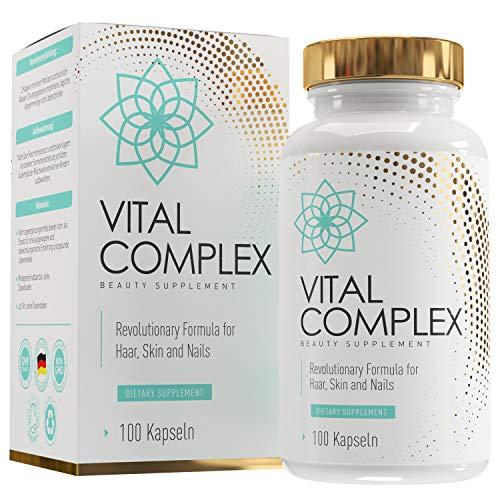 Haar Vitamine | Haut-Haar-Nägel Kapseln | Hochdosiert | 2-Monats-Vorrat | 500-700 kDa Hyaluronsäure Kapseln | Biotin | Zink | Bambus-Extrakt | Brennnessel-Extrakt | SKINLOVE®