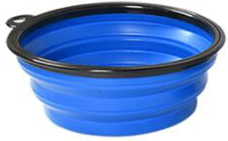 Pet Folding Bowl Portable Collapsible Pet Silicone Bowl Dog Food Dog Bowl