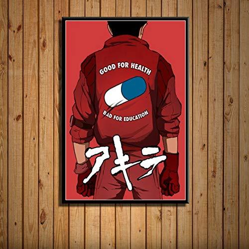 Einzelne Leinwand Poster Akira Klassische japanische Anime Filmkunst Malerei Leinwand Poster Wand Wohnkultur 50x70cm ohne Rahmen