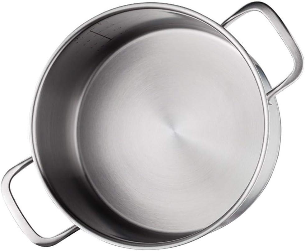 L.TSN Pot à ragoût - Fond Composite à Trois Couches en Acier Inoxydable 304 pour Toutes Les Sources de Chaleur de 22 cm de diamètre (Couleur: A Taille: 22 cm de diamètre) A
