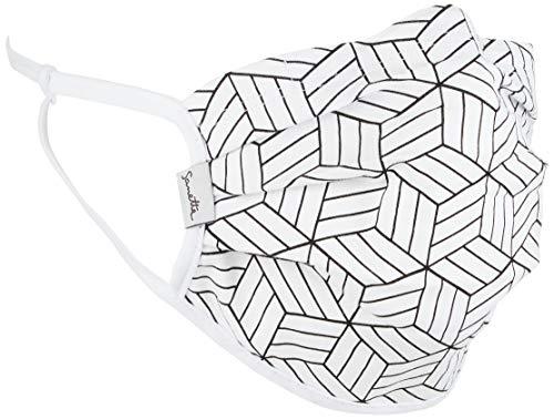 Sanetta Unisex Maske Erwachsene 2er Pack 349984 , weiß, M
