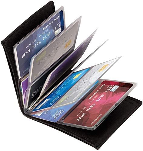 Wonder Wallet - SIMU Amazing Slim RFID Wallets As Seen on TV (2 Pack, Black)