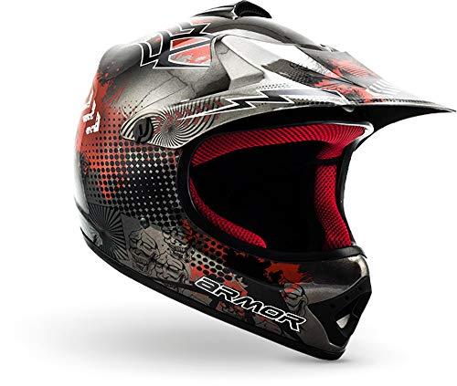 "armor HELMETS® AKC-49 ""Titan"" · Kinder Cross-Helm · Motorrad-Helm MX Cross-Helm MTB BMX Cross-Bike Downhill Off-Road Enduro-Helm Moto-Cross Sport · DOT Schnellverschluss Tasche S (53-54cm)"
