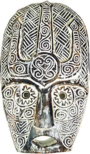 Guru-Shop Oost-Timor Masker, Ethnomasker, Gesneden Masker - Model 5, Bruin, 67x40x7 cm, Maskers Wanddecoratie
