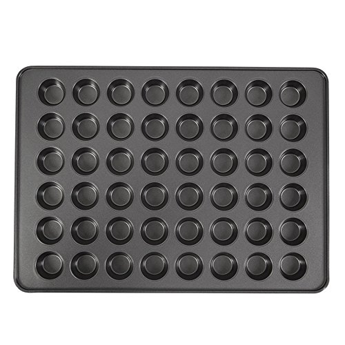 Wilton Perfect Results Non-Stick Mega Mini Cupcake, 48-cup Muffin Pan, black