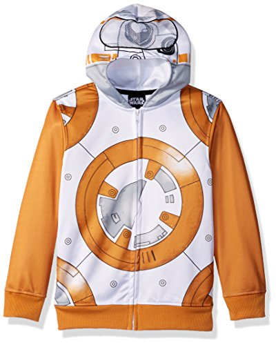 Star Wars Big Boys Bb-8 Fleece Zip Costume Hoodie, Multi, Large-14/16