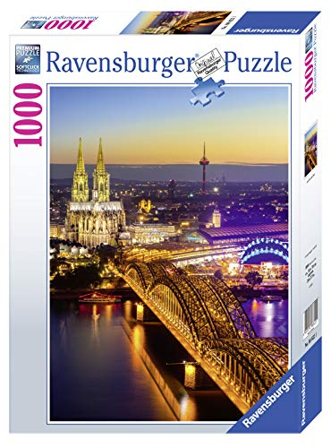 Ravensburger Puzzle 1000 Teile - Leuchtendes Köln - Puzzle für...
