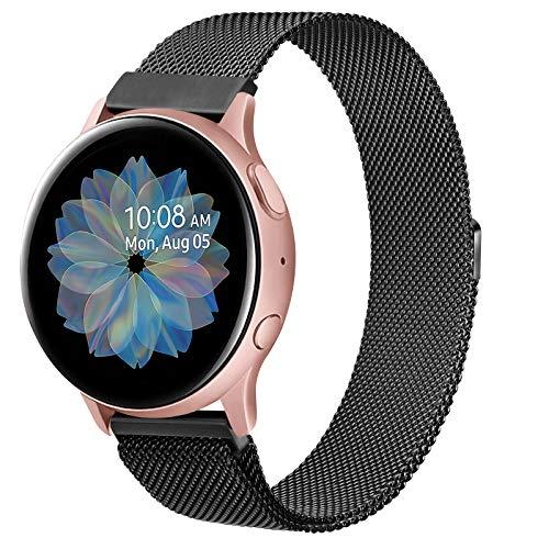 Oumida Bracelet de Montre 22mm Acier Inoxydable Compatible pour Samsung Galaxy Watch 46mm, Gear S3 Frontier/Classic, Garmin Vivoactive 4, Fossil Gen 5, Bracelet de Sport en Métal (Noir, 22mm)