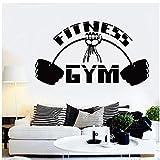 MINGKK Wandaufkleber Fitness Wandtattoo Gym Interior Decor Motivation Workout Crossfit Sport...