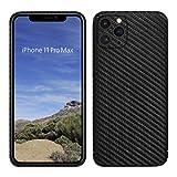 VIVERSIS echte Carbon Hülle für iPhone 11 Pro Max, matt schwarz, ultradünn, sehr leicht, robust, kabelloses Laden, hohe Qualität - Hand Made in Germany