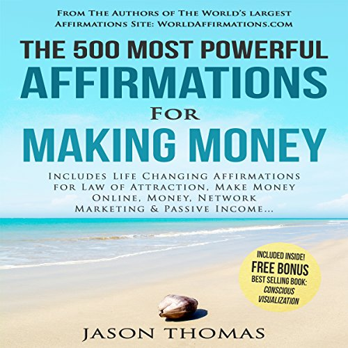 The 500 Most Powerful Affirmations for Making Money audiobook cover art
