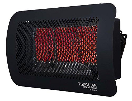 Bromic Heating Tungsten 300 Smart-Heat Gas 3 Burner Radiant Infrared Patio Heater, Natural Gas, 26000 BTU