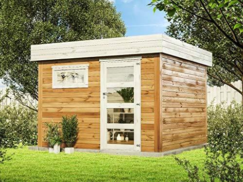 Alpholz Gartenhaus WPC Evan aus Massiv-Holz...
