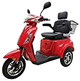 Elektromobil VITA CARE 1000 Seniorenmobil E-Roller E-Scooter mit Straßenzulassung Elektro Roller, Rot