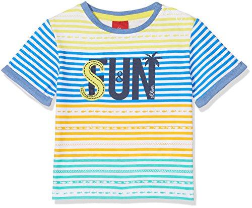 s.Oliver s.Oliver Baby-Jungen 65.805.32.5188 T-Shirt, Blau (Blue AOP 55b5), 68