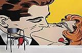 maßgeschneiderte Kiss Pop Art Fototapete 200×150cm