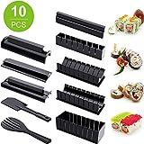 Sushi Maker Kit, 10 Kits Completos De Bricolaje Para Hacer Sushi En El Hogar Fáciles De Limpiar Y Usar, Kit De Sushi Para Principiantes, Una Pequeña Herramienta Para Mejorar La Felicidad Familiar.