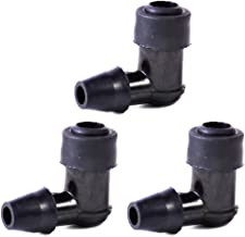 3pcs 90 Degree Non Resistor Spark Plug Cap Cover fit for Motorcycle Dirt Bike ATV (Fulfilled by Amazon)