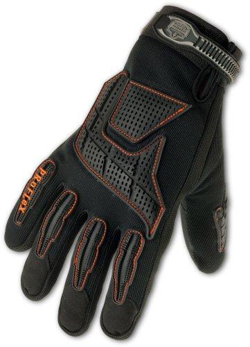 Ergodyne ProFlex 9015F(x) Certified Anti-Vibration Work Glove with Back Hand Protection, X-Large, Black
