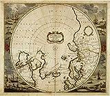 Puzzle 1000 Piezas Adecuado para Adolescentes Y Adultos Rompecabezas De Madera Decoraciones Hogar Mapa del hemisferio antiguo