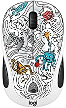 Logitech 910-005034 Wireless Mouse Techie White